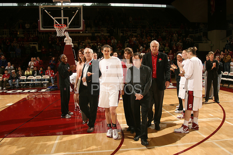 25 February 2007: Brooke Smith during Stanford's 56-53 win over USC at Maples Pavilion in Stanford, CA.