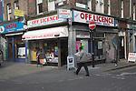 Off licence shop, Brick Lane, London, E1, England