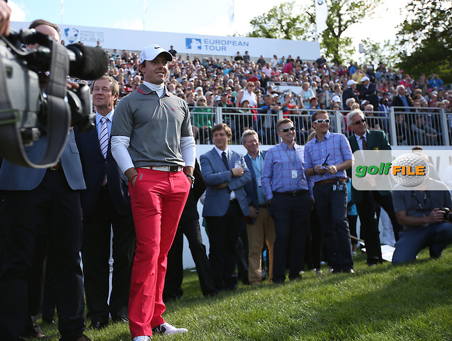 A proud smile as Rory McIlroy (NIR) banishes the week's demons to reach his goal of a better game as he wins the Final Round of the BMW PGA Championship from Wentworth Golf Club, Virginia Waters, London, UK. Picture:  David Lloyd / www.golffile.ie