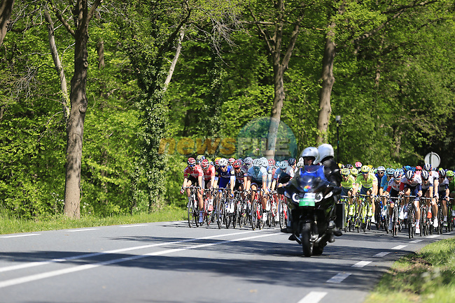 The peloton in action during Stage 3 of the 2016 Giro d'Italia running 190km from Nijmegen to Arnhem, The Nethrerlands. 8th May 2016.<br /> Picture: Eoin Clarke | Newsfile<br /> <br /> <br /> All photos usage must carry mandatory copyright credit (&copy; Newsfile | Eoin Clarke)