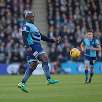 Adebayo Akinfenwa of Wycombe Wanderers during the Sky Bet League 2 match between Plymouth Argyle and Wycombe Wanderers at Home Park, Plymouth, England on 26 December 2016. Photo by Mark  Hawkins / PRiME Media Images.