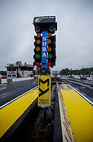 Jun 6, 2016; Epping , NH, USA; General view of the Christmas Tree starting line lights during a rain delay to NHRA qualifying for the New England Nationals at New England Dragway. Mandatory Credit: Mark J. Rebilas-USA TODAY Sports