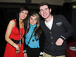 Sinead Cluskey, Naomi Bowler and Neil McEvoy pictured at Mark Cluskey's 21st birthday in the Star and Crescent. Photo: Colin Bell/pressphotos.ie