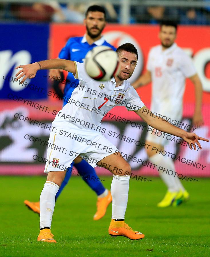 Fudbal<br /> Prijateljski mec-Friendly match<br /> Srbija v Grcka<br /> Zoran Tosic<br /> Chania, 17.11.2014.<br /> foto: Srdjan Stevanovic/Starsportphoto &copy;