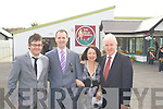 Pictured with Athea NS Headmistress Margaret Watters at the Grand Opening of their state-of-the-art school extension on Sunday were architects Shane O'Connor and Warren Reidy of  WRPD on her left and Jimmy Denihan TD.
