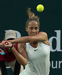 Madison Keys (USA) defeated Lara Arruabarrena (ESP) 6-1 in the first set