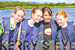Caherdaniel girls rowing in the Callinafercy Coastal regatta on Sunday l-r: Rachel galvin, Grace Etherton, Erin Kelleher and Abby Fayen