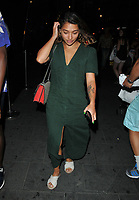 Vanessa White of The Saturdays spotted walking through Soho, Chinatown, along Wardour Street, London, England, UK, on Friday 03 August 2018.<br /> CAP/CAN<br /> &copy;CAN/Capital Pictures