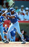 Kansas City Royals Gary Thurman (25) during spring training circa 1991 at Chain of Lakes Park in Winter Haven, Florida.  (MJA/Four Seam Images)