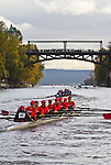 Rowing, Head of the Lake Regatta, November 2 2014, Seattle, Seattle University crew, Women's 3JV 8+, Washington State, Lake Washington Rowing Club, Lake Washington Ship Canal, Montlake Cut,