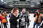 Solna 2014-03-16 Bandy SM-final herrar Sandvikens AIK - V&auml;ster&aring;s SK :  <br /> Sandvikens Magnus Muhr&eacute;n Muhren reagerar n&auml;r han jublar  efter matchen och h&aring;ller en hand framf&ouml;r ansiktet<br /> (Foto: Kenta J&ouml;nsson) Nyckelord:  SM SM-final final herr herrar VSK V&auml;ster&aring;s SAIK Sandviken  jubel gl&auml;dje lycka glad happy  gr&aring;t gr&aring;ter t&aring;rar t&aring;r