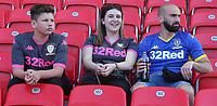 Leeds United fans<br /> <br /> Photographer Stephen White/CameraSport<br /> <br /> The Premier League - Stoke City v Leeds United - Saturday August 24th 2019 - bet365 Stadium - Stoke-on-Trent<br /> <br /> World Copyright © 2019 CameraSport. All rights reserved. 43 Linden Ave. Countesthorpe. Leicester. England. LE8 5PG - Tel: +44 (0) 116 277 4147 - admin@camerasport.com - www.camerasport.com