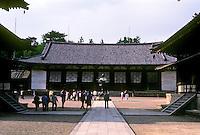 Nara: Horyuji--The Kodo, or lecture hall. Note: Nara is capital city of Nara Prefecture. Photo '82.
