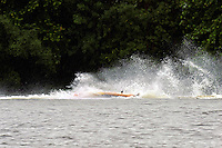 Frame 9: Marissa Affholder(151-M) races into turn 2 chasing 17-M and flips over. (stock outboard runabout)