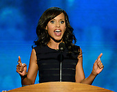 Kerry Washington makes remarks at the 2012 Democratic National Convention in Charlotte, North Carolina on Thursday, September 6, 2012.  .Credit: Ron Sachs / CNP.(RESTRICTION: NO New York or New Jersey Newspapers or newspapers within a 75 mile radius of New York City)