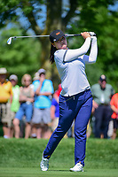Angel Yin (USA) watches her tee shot on 2 during Saturday's round 3 of the 2017 KPMG Women's PGA Championship, at Olympia Fields Country Club, Olympia Fields, Illinois. 7/1/2017.<br /> Picture: Golffile | Ken Murray<br /> <br /> <br /> All photo usage must carry mandatory copyright credit (&copy; Golffile | Ken Murray)