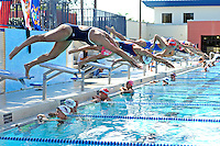 5 November 2011:  FIU's Nadia Farrugia competes in the 200 yard freestyle as the FIU Golden Panthers won the meet with the Florida Atlantic University Owls and Florida Southern Moccasins at the Biscayne Bay Campus Aquatics Center in Miami, Florida.