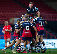 Bristol players celebrate at the final whislte<br /> <br /> Photographer Bob Bradford/CameraSport<br /> <br /> Gallagher Premiership - Bristol Bears v Saracens - Saturday 13th April 2019 - Ashton Gate - Bristol<br /> <br /> World Copyright © 2019 CameraSport. All rights reserved. 43 Linden Ave. Countesthorpe. Leicester. England. LE8 5PG - Tel: +44 (0) 116 277 4147 - admin@camerasport.com - www.camerasport.com