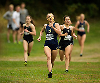 10/14/17: The U.S. Naval Academy midshipmen women's cross country team race head-to-head with the Army Black Knights,Saturday morning October 14, 2017, at the 80th Star Meet in Bowdin Park in Wappingers Falls, N.Y.  Photo by: PatrickSchneiderPhoto.com<br /> <br /> Charlotte Photographer - PatrickSchneiderPhoto.com