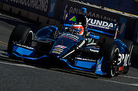 BALTIMORE - AUGUST 31: Rubens  Barrichello during Practice for the IZOD IndyCar Series  Baltimore Grand Prix at the Baltimore Temporary Street Course on August 31 , 2012 in Baltimore, Maryland. 08/31/12. (Ryan Lasek/Eclipse Sportswire)