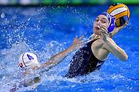 GARANCOVSKA Lenka SVK, GORBUNOVA Olga RUS  <br /> Budapest 12/01/2020 Duna Arena <br /> SLOVAKIA (white caps) Vs. RUSSIA (blue caps)<br /> XXXIV LEN European Water Polo Championships 2020<br /> Photo  © Andrea Staccioli / Deepbluemedia / Insidefoto
