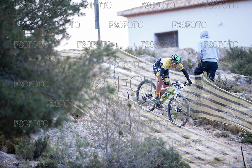 Chelva, SPAIN - MARCH 6: Amparo Chapa during Spanish Open BTT XCO on March 6, 2016 in Chelva, Spain