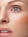 Closeup of a beautiful young woman's face