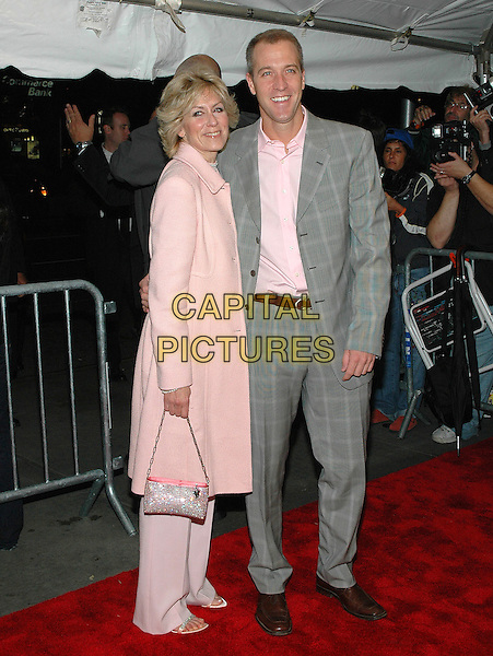"JUDITH LIGHT & SEAN PATRICK MALONEY.Premiere of ""Elizabethtown"", at the Loews Lincoln Square Theater in Manhattan, New York, New York ..October 10th, 2005.Photo Credit: Patti Ouderkirk/AdMedia/Capital Pictures.Ref: PO/ADM/CAP.full length pink jacket trousers purse grey suit checkered.www.capitalpictures.com.sales@capitalpictures.com.© Capital Pictures."