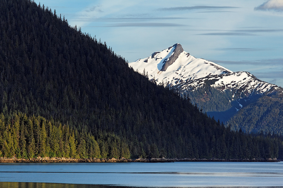 Red Mountain and waters of the Inside Passage, Southeast Alaska