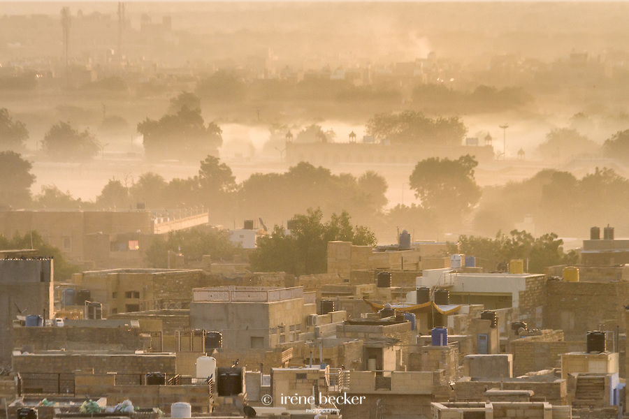 A view of Jaisalmer town from the top of Patwon-ki-Haveli