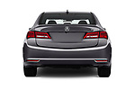 Straight rear view of a 2018 Acura TLX AUTO 4 Door Sedan stock images