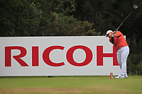 Sun-ju Ahn (KOR) on the 2nd tee during Round 3 of the Ricoh Women's British Open at Royal Lytham &amp; St. Annes on Saturday 4th August 2018.<br /> Picture:  Thos Caffrey / Golffile<br /> <br /> All photo usage must carry mandatory copyright credit (&copy; Golffile | Thos Caffrey)