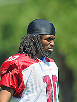 Jul 30, 2008; Flagstaff, AZ, USA; Arizona Cardinals wide receiver Jamaica Rector during training camp on the campus of Northern Arizona University. Mandatory Credit: Mark J. Rebilas-
