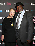 "Deborah Brevoort and Chuck Cooper attends the Broadway Opening Night of ""Tootsie"" at The Marquis Theatre on April 22, 2019  in New York City."