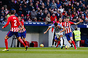 2nd December 2017, Wanda Metropolitano, Madrid, Spain; La Liga football, Atletico Madrid versus Real Sociedad; Xabi Prieto  (10) of Real Sociedad  battles with Saul Niguez Esclapez (8) of Atletico Madrid