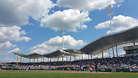 General view of a Boston Red Sox Spring Training game against the New York Mets on March 16, 2015 at JetBlue Park at Fenway South in Fort Myers, Florida.  Boston defeated New York 4-3.  (Mike Janes/Four Seam Images)