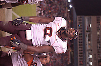20 October 2005: Virginia Tech LB Vince Hall (9)..The Virginia Tech Hokies defeated the Maryland Terrapins 28-9 at Byrd Stadium in College Park, MD.