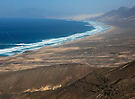 Cofete beach Atlantic Ocean coast, Jandia peninsula, Fuerteventura, Canary Islands, Spain