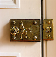 The door from the Stag Parlour to the Pantry features the most curious of locks