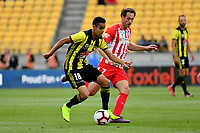 Wellington Phoenix&rsquo; Sarpreet Singh and Melbourne City&rsquo;s Rostyn Griffiths in action during the A League - Wellington Phoenix v Melbourne City FC at Westpac Stadium, Wellington, New Zealand on Saturday 26 January 2019. <br /> Photo by Masanori Udagawa. <br /> www.photowellington.photoshelter.com