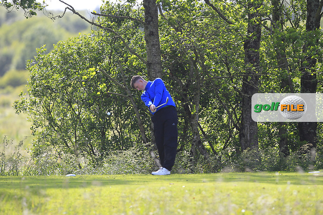 Ross Kelly (Tuam) on the 14th tee during Round 4 of the Connacht Stroke Play Championship at Athlone Golf Club Sunday 11th June 2017.<br /> Photo: Golffile / Thos Caffrey.<br /> <br /> All photo usage must carry mandatory copyright credit     (&copy; Golffile | Thos Caffrey)