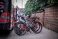 Team Cofidis bikes race ready. <br /> <br /> <br /> 71th Halle Ingooigem 2018 (1.1)<br /> 1 Day Race: Halle &gt; Ingooigem (197.7km)