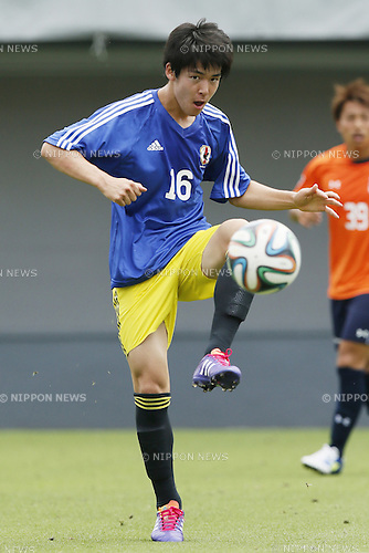 Hiroki Sugajima,<br /> JULY 1, 2014 - Football / Soccer : <br /> Training match between U-19 Japan 1-2 Omiya Ardija<br /> at NACK5 Stadium Omiya, Saitama, Japan. <br /> (Photo by SHINGO ITO/AFLO SPORT)