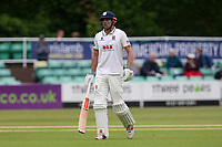 Alastair Cook of Essex leaves the field having been dismissed for 66 during Worcestershire CCC vs Essex CCC, Specsavers County Championship Division 1 Cricket at Blackfinch New Road on 12th May 2018