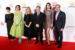 Paz Vega, Agatha Ruiz de la Prada, Carmen Cervera, Joan Roca, Nieves Alvarez and Carlos Sainz during the photocall of the ARI Awadrs 40th Anniversary. April 25, 2018. (ALTERPHOTOS/Acero)