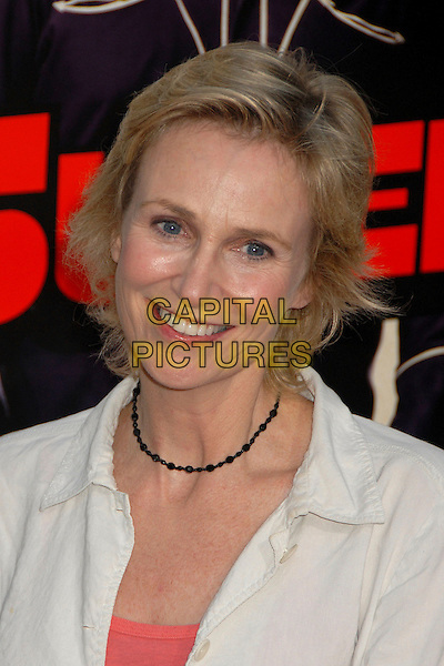 "JANE LYNCH.""Superbad"" Los Angeles Premiere at Grauman's Chinese Theatre, Hollywood, California, USA..August 13th, 2007.headshot portrait black necklace .CAP/ADM/BP.©Byron Purvis/AdMedia/Capital Pictures"