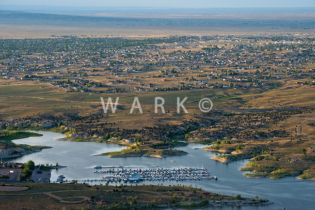 North Shore Marina at Lake Pueblo, Colorado. Pueblo West. June 2014