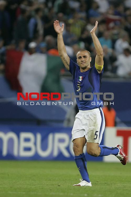 FIFA WM 2006 -  Viertelfinale <br /> Play    #58 (26-Jun) - Italien - Ukraine<br /> <br /> Jubel  CANNAVARO Fabio<br /> <br /> Foto &copy; nordphoto