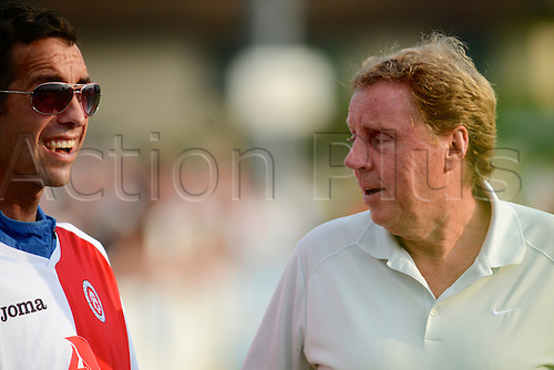 07.09.2014.  Poole, England. Charity match in aid of MND sufferer Andrew Culliford. Andrew Culliford & Harry Redknapp.