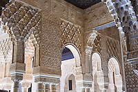 arches in room off of Patio Arrayanes, Palacio Nazaries, Alhambra, Granada, Spain